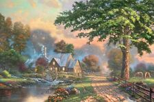 Thomas Kinkade Simpler Times II Gallery Proof on Paper 27x18