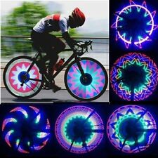 32 LED Colorful Rainbow Bicycle Bike Wheel Spoke Light Double Sided Tire Lamp HT