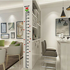 Removable 3D Height Chart Measure Kids Growth Wall Sticker Decal for Kids Baby