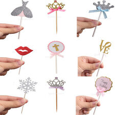 10pcs Cake Cupcake Topper Birthday Wedding Decor Party Favors Anniversary Picks