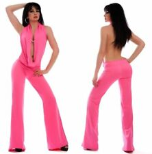 Jumpsuit Cowl neck GoGo Overalls Clubwear Evening wear Suit neon S-L