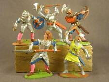 Medieval German Foot Knights 5 figures painted in 5 different Action Poses