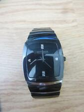 Men's Wittnauer 12D03 Black Ceramic & Stainless Steel Diamond Accent Watch