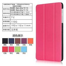 CY-K Slim Folding Stand PU Leather Case for Huawei Mediapad T1 7.0/T2 7.0 Tablet