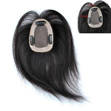 """Base 2.7""""x 3.9"""" Women Hair Top Replacement Toupee Clip in human Hair Extensions"""