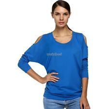 Zeagoo Korean Stylish Ladies Women O Neck Batwing Sleeve Off Shoulder Top WST