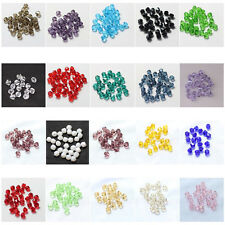 100psc Diy Jewelry Necklace Bracelet Crystal Bicone 5301 Loose Glass Beads UK