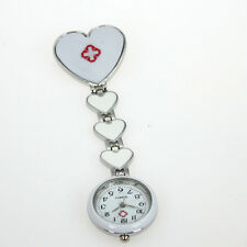 Fashion Love Heart Pin Brooch Fob Nurse Doctor Quartz Pendant Dress Watch GL13
