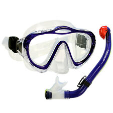 NEW Kid's Junior Silicone Mask Dry Snorkel Boy Girl Snorkeling Diving Gear Set