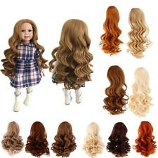 Dolls Wavy Curly Hair Wig for 18inch American Girl Doll DIY Making Accessory