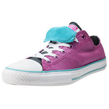 Converse Ctas Double Tongue Ox Womens Trainers Magenta Branded Footwear