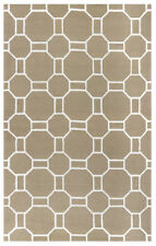 Rizzy Rugs Beige Octagon Lines Banded Contemporary Area Rug Geometric AH9947