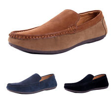 Mens casual Moccasin slip on suede Peas Shoes Driving Leather British Dress