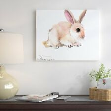 East Urban Home 'Bunny 4' Painting Print on Gallery Wrapped Canvas