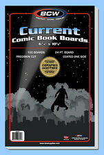 BCW: Comic Book Acid-Free Backing Boards: CURRENT Size:  200ct *Ships FREE in US