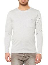 NEW SELECTED T-SHIRT MEN'S LONG SLEEVE SHPIMA FLORENCE LS GRAY MEN