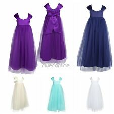 Flower Girl Princess Tulle Dress Kid Baby Party Wedding Pageant Bridesmaid Gown