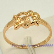 Size 7,7.5,8,9 RING,REAL EXQUISITE FISH 18K ROSE GOLD GP GIFT SOLID FILL 4850r