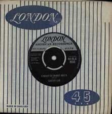 "Curtis Lee A Night At Daddy Gee's UK 7"" vinyl single record 45-HLX9533"