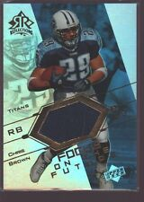 CHRIS BROWN 2004 UD REFLECTIONS GAME USED WORN JERSEY PATCH SP TITANS $12