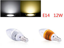 E14 Dimmable 12W High Power Candle LED Chandelier Warm White Candle Light Bulb