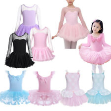 Princess Girls Kids Ballet Tutu Dress Gymnastics Leotard Skirt Dance Wear 3-8 Y