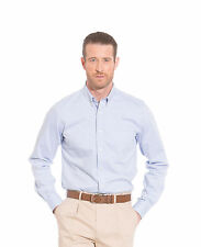 Savile Row Men's Blue Twill Button Down Collar Slim Fit Casual Shirt
