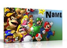 SINGLE CANVAS PICTURE WALL ART MARIO BROS CAN BE PERSONALISED  FREE P&P