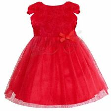 Kids baby Toddler Girl Flower Princess Wedding Party Pageant Fancy Dress 0-5T