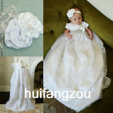 Baptism Dresses Boy Girls Vintage Infant Baby Ivory White Christening Gown 0-18M