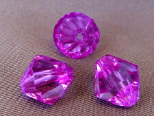10mm 50/100/200/500pcs VIOLET RED FACETED ACRYLIC PLASTIC BICONE BEAD TY2249