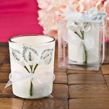 96 Stunning Silver Calla Lily Votive Candle Holder Wedding Gift Favors