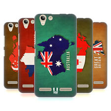 HEAD CASE DESIGNS COUNTRY FLAG MAPS HARD BACK CASE FOR LENOVO VIBE K5