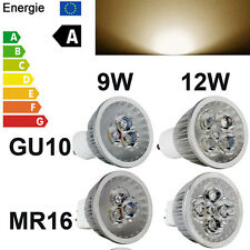 9/12W Bulb E27 GU10 MR16 LED Spot High Power Light Energy Saving Lamp Warm White