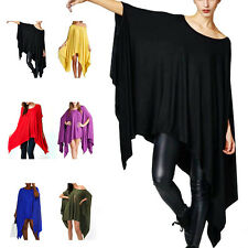 Sexy Women Batwing Sleeve Loose Blouse Shirt Tops Praty Mini Dress Casual Tunic