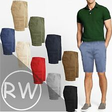 NEW MENS KNEE LENGTH CHINO SHORTS CARGO COMBAT PANTS COTTON CASUAL SUMMER 32-46