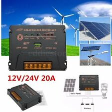 10A 20A 30A 12V/24V LCD Solar Controller Solar Harge/Discharge For Solar Panel