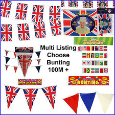 Union Jack Flag Bunting GB Olympic British Royal Street Party 100 Metres Long