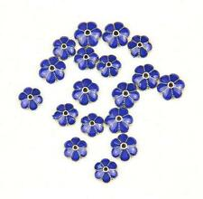 5Pcs Cloisonne Enamel Alloy Flower Spacer Bead Caps Jewelry Finding 9-10mm New