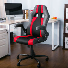 Merax PU Leather Mesh Office Gaming Chair Racing Style Ergonomic Computer Desk