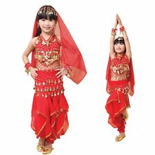 Children Girl Kid Belly Dance Outfit Perform Costumes Top Pants Set Indian Dance