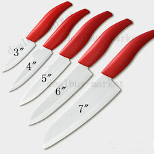 """Chef Kitchen Cutlery Red Ceramic knife Knives 5 Size Choice 3"""" 4"""" 5"""" 6"""" 7"""""""