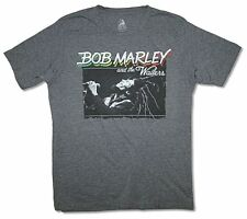 Bob Marley & The Wailers Live Concert Heather Grey T Shirt New Official Soft