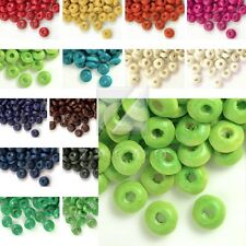 30g(400pcs Approx)3x6mm Wooden Spacer DIY Wood Beads Rondelle Craft Findings