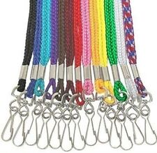 25 Braided Nylon NECK STRAP LANYARDs with SWIVEL and HOOK ~ Pick 1 or MIX COLOR