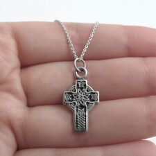 925 Sterling Silver Glorious Ornate Cross Charm with Necklace