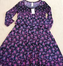 NWT Justice for Girls Digital Print Pop Over Dress Size 10