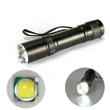 12W CREE Q5 1200 Lm LED Zoomable Flashlight Torch Lamp Light 18650 + Charger S(
