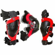 Asterisk Cell Knee Brace Motocross Offroad MX Protection System - Red