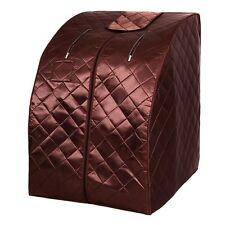 Home Modern Portable Far Infrared Sauna with Folding Chair 3Color
